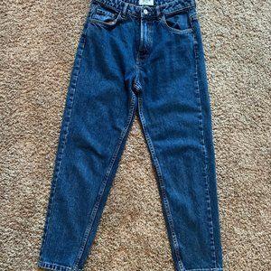 Zara TRF Mom Jeans Darkwash